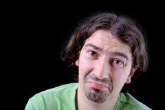 Homme occasionnel avec un visage pleurant Image libre de droits