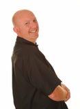 Homme occasionnel chauve heureux Photos stock
