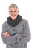 Homme occasionnel dans l'habillement chaud Photographie stock libre de droits