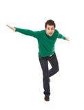 Homme occasionnel heureux photographie stock libre de droits