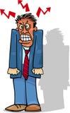 Homme ou homme d'affaires fâché illustration de vecteur
