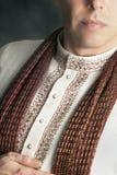 Homme paisible dans le vêtement indien traditionnel 1 Photographie stock libre de droits
