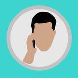 homme parlant dans le téléphone Image libre de droits