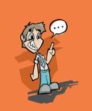 Homme parlant sans confiance Photographie stock