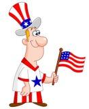Homme patriote illustration stock