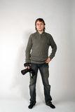 Homme - photographe Photo stock