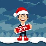 Homme plat d'affaires de bande dessinée de Noël Photos libres de droits