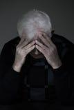 Homme pleurant son amour perdu Photographie stock
