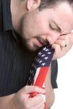 Homme pleurant triste images libres de droits