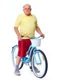 Homme plus âgé avec la bicyclette Image libre de droits