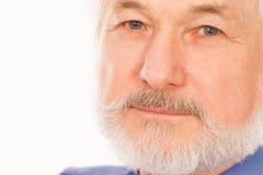 Homme plus âgé bel avec la barbe Images stock