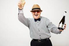 Homme plus âgé célébrant la retraite Photos libres de droits