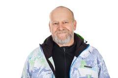 Homme plus âgé dans le costume de ski Photos stock