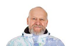 Homme plus âgé dans le costume de ski Photo libre de droits