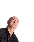 Homme plus âgé de sourire recherchant Images libres de droits