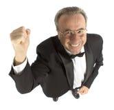 Homme plus âgé heureux Image stock