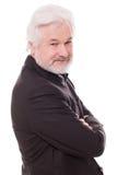 Homme plus âgé bel avec la barbe grise Images stock