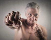 Homme plus âgé fort Images stock