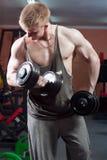 Homme posant le bodybuilder Image libre de droits