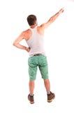 Homme posant le sien de retour Photos libres de droits