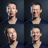 Homme positif d'émotions Photo stock