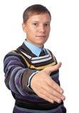 Homme prêt à se serrer la main Photo stock