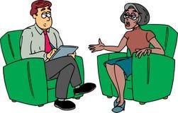 Homme prenant des notes avec la dame Images libres de droits