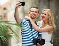 Homme prenant l'autoportrait Photos stock