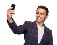 Homme prenant un selfie Photo stock