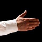 Homme prolongeant sa main dans une poignée de main Image libre de droits