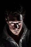 Homme psychopathe bizarre obscur Images libres de droits