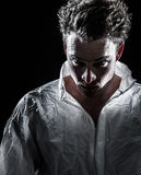 Homme psychopathe bizarre obscur Image libre de droits
