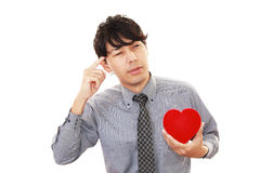 Homme qui immense chagrin Image stock