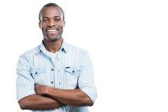 Homme réussi et heureux Photo libre de droits