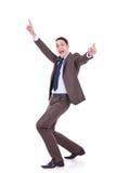 Homme réussi heureux d'affaires photographie stock libre de droits