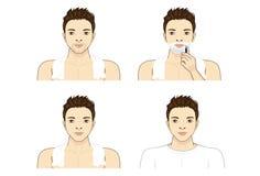 Homme-rasage Images libres de droits