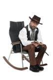 Homme rectifié en tant que rétro avec un Mauser Photographie stock