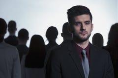Homme rejeté de la foule Photos libres de droits