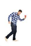 Homme retenant un petit cadre de cadeau Photo libre de droits