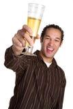 Homme riant de bière photo libre de droits
