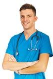 Homme riant de docteur Photographie stock