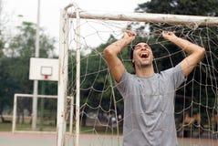 Homme riant - horizontal Photographie stock libre de droits