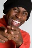 homme riant noir Photographie stock libre de droits