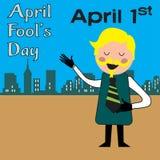 Homme riant sur April Fools Day Photos stock