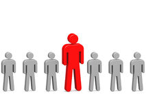 Homme rouge exceptionnel illustration stock