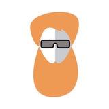 Homme roux avec la barbe Avatar plat Photographie stock libre de droits