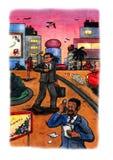 Homme sûr d'affaires (2009) Image stock