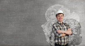 Homme sûr de constructeur Image stock