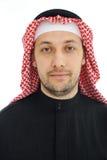 Homme s'usant du Moyen-Orient arabe Photographie stock libre de droits