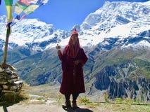 Homme saint au Népal photo libre de droits